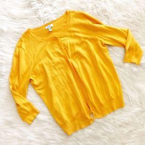 Susina Marigold Yellow Cardigan